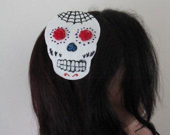 Sugar skull headband! Día de Muertos!