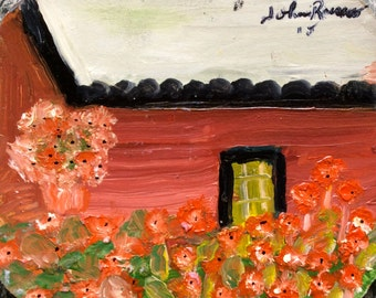 """Roses, 4.5"""" x 5.5"""", Original Fine Art OIl Painting"""