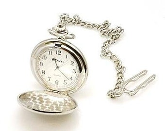 Personalised pocket watch presented in luxury box.