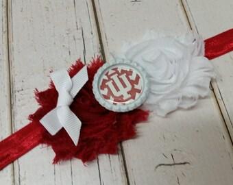 Indiana Hoosiers elastic headband - baby - toddler - child - adult