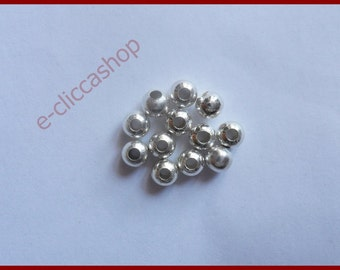 Bead Spacer Ball 6MM 100 PCS Silver Tone