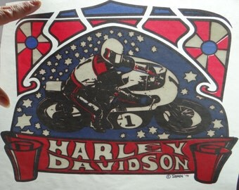 Vintage NOS Harley Davidson Iron-On Transfer by Roach 1973