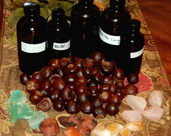 HOODOO DRESSED BUCKEYES for Luck, Gambling, Male Potency, Love, Success and Commanding