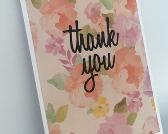 Thank you - [floral]