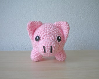 Crochet Piglet Stuffed Animal