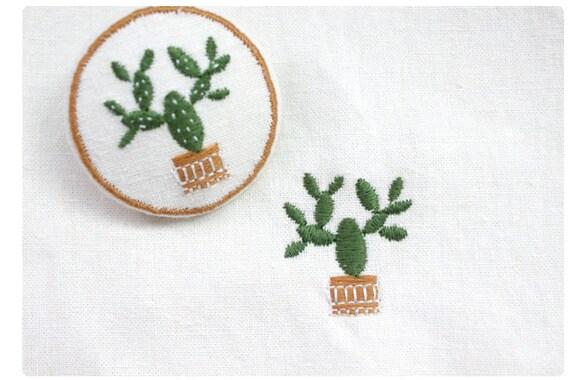 Machine embroidery pattern design cactus digital file