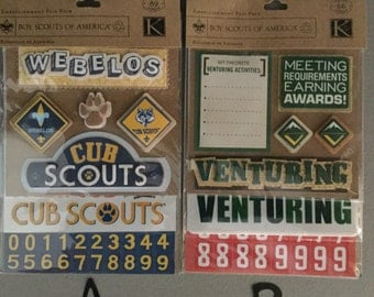 Boy Scout Embellishment Stickers