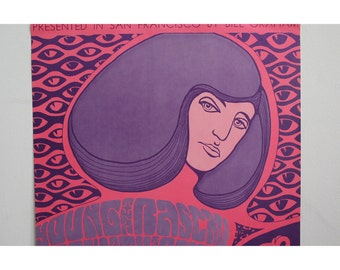 Vintage Doors & Young Rascals Fillmore Poster 1967 by Wes Wilson