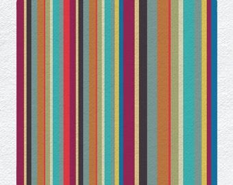 Geometric - Striped Card