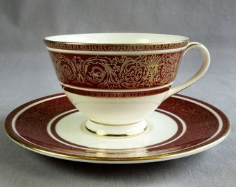 Vintage 1963-1979 Royal Doulton Fine China Buckingham Footed Cup and Saucer