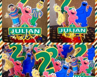 Sesame Street theme centerpiece