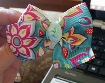 Bright Floral Boot Bow