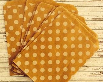 kraft Bags 10 polka dots