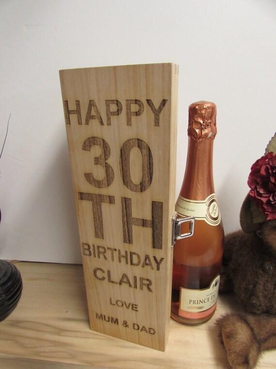 Personalised Wine Box Birthday Present, Gift. Wine Box/Champagne Box