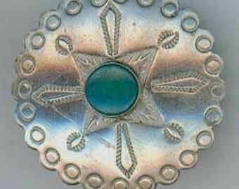 A Navajo  Silver Button