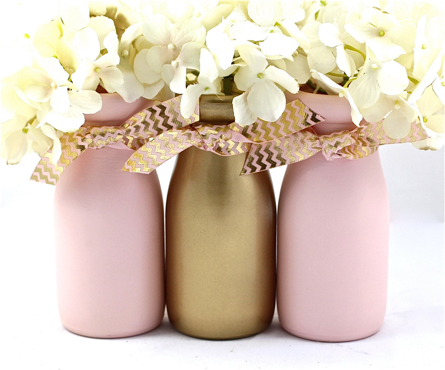 Pink And Gold Baby Shower Centerpiece First