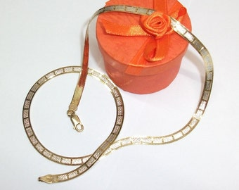 Gold necklace in 925 Silver / gold plated 23 / 24 k SK523