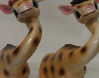 Giraffe Salt and Pepper Shakers Set