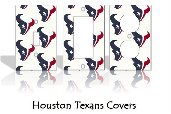Houston Texans Man Cave Accessories : Houston texans nfl light switch covers by theolswitcheroo