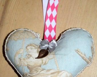French Lavender Heart Sachet