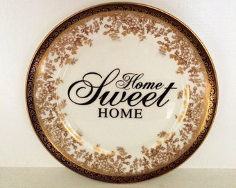 Home Sweet Home Vintage Plate - Wall Hanging - Home Decor