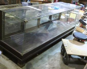 Antique Vintage Floor Showcase Display Case Counter Store