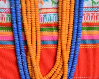 Nepalese Yak bead necklace - dyed Yak beads from Nepal,Buddhist tibet