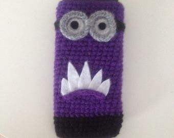 Minion Handytasche-cellphone case unique crochet