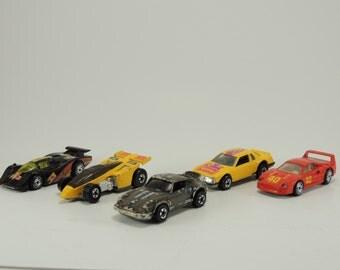 Vintage Lot of 80's Hotwheels Race Cars