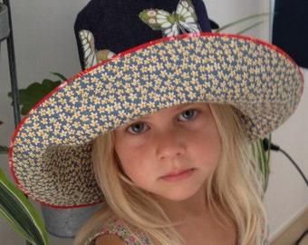 Big hat girl size 46-48 cm