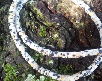 Dalmatian jasper bead strand, 150 beads in this strand