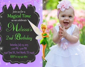 TinkerBell Invitation, TinkerBell Birthday, TinkerBell Party