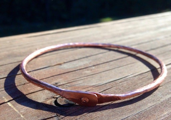 Beautifully Simple Copper Bangle Bracelet