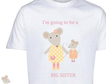 Big sister t-shirt, big sister announcement shirt, big sister tshirt, big sister gift, big sister to be, big mouse Little mouse design,
