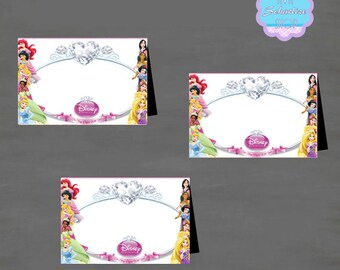 Disney Princess BLANK Food Tent, Tent Card, Place Card, Buffet Food Label DIY PRINTABLE