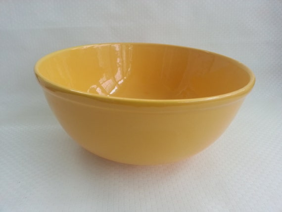 Vintage Yellow Gaetano Usa Pottery Bowl Salad Serving