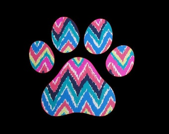 Paw Print Decals ~ Dog Print Paw Vinyl Decals ~ One, two, or ten, choose as many as you want!