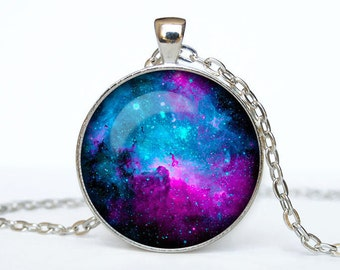 Nebula necklace Orion Nebula pendant Galaxy jewelry galaxy pendant universe jewelry star necklace purple blue nebula necklace gift for her