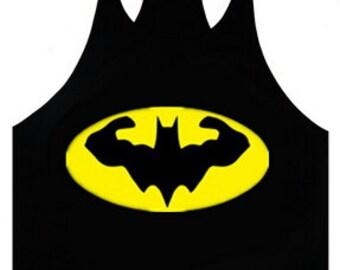 Batman Shirt Men Workout Tank Men Gym Shirt Workout Tank