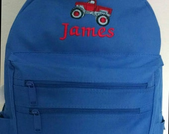 Children's Backpack, Embroidered BackPack, Monogrammed Backpack