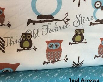 Premier Prints Hooty Owl Village - Hooty Tula - Canvas Duck
