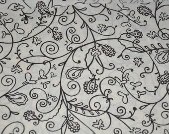 1/2 hard of Brown & Beige Swirl by Moda 100% Cotton Quilt Fabric