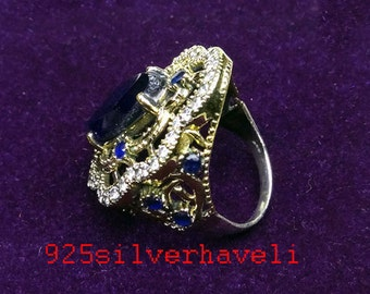 A Beautiful 925 Sterling Silver Turkish Style Handmade Ring