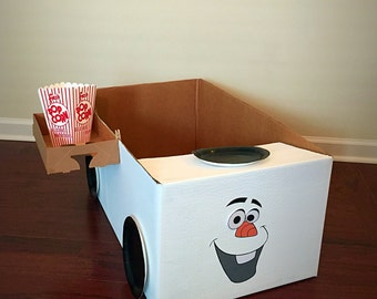 Drive in movie kit, Movie night, Frozen drive in, Frozen Party, Frozen Birthday Party, Birthday Party, Cardboard Car, snack tray,
