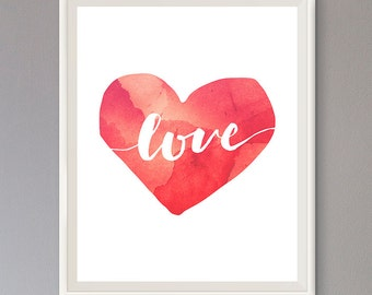 EXTRA 50% OFF Multiple Purchases Downloadable Print Love Heart red