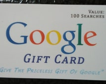 Google Gift Card - Novelty Gag Gift. Real Scratch off Panel. Great Unique Gift!