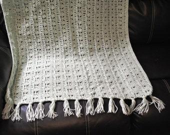 Hand Crochet Tassel Blanket