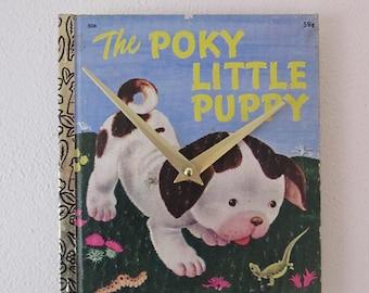 Children's Golden Book wall clock - The Poky Little Puppy