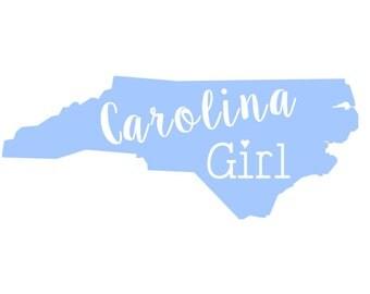 Carolina Girl NC/SC Vinyl Decal