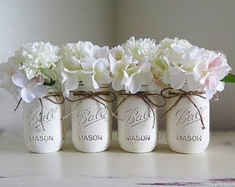 Mason Jar Centerpiece Wedding Decor Wedding Reception Decor